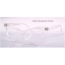 Cat eyes clear frames